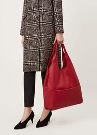 Lucy Hobo Bag, Red, hi-res