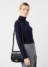 Oxford Saddle Bag, Navy, hi-res