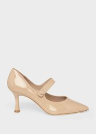 Sandra Patent Stiletto Court Shoes, Fawn, hi-res
