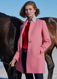 Camellia Coat, Bubblegum Pink, hi-res