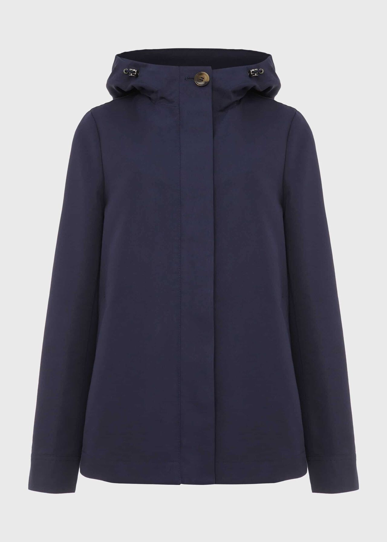 Ceira Water Resistant Coat With Hood, Navy, hi-res