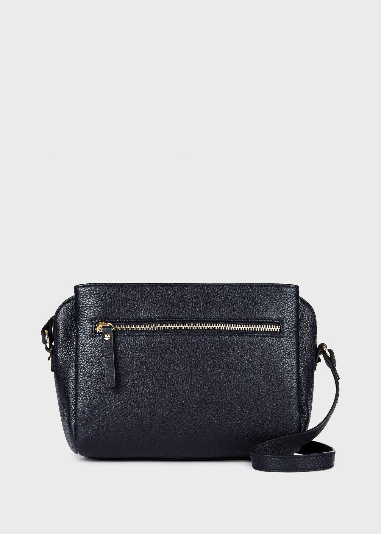 Hadley Leather Cross Body Bag , Navy, hi-res