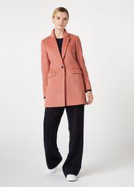 Tia Wool Blend Coat, Cosmetic Pink, hi-res