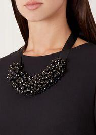 Zara Necklace, Black, hi-res