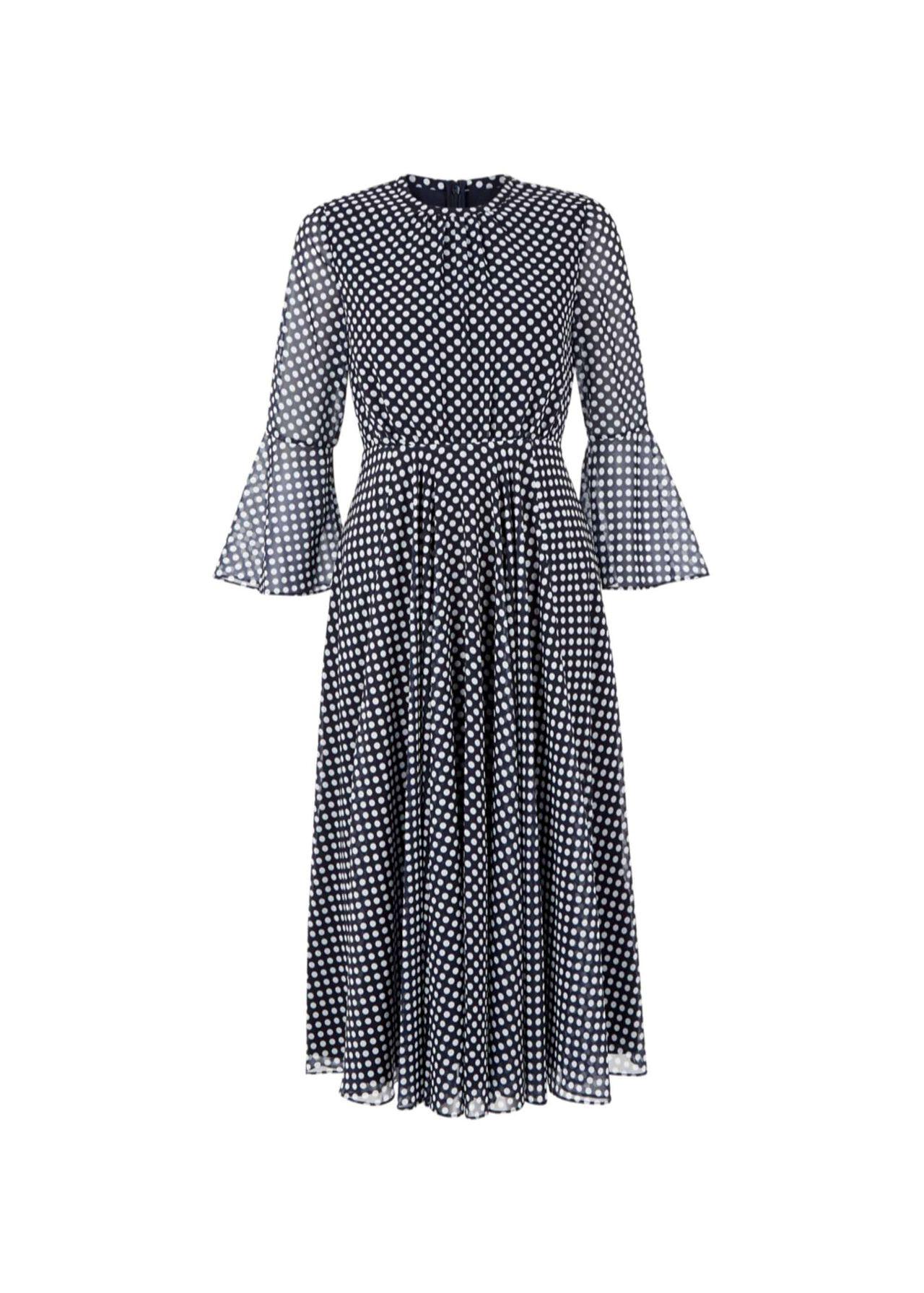 Lilia Dress Navy Ivory
