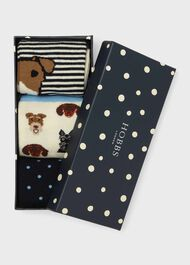 Dog Sock Set, Blue Multi, hi-res