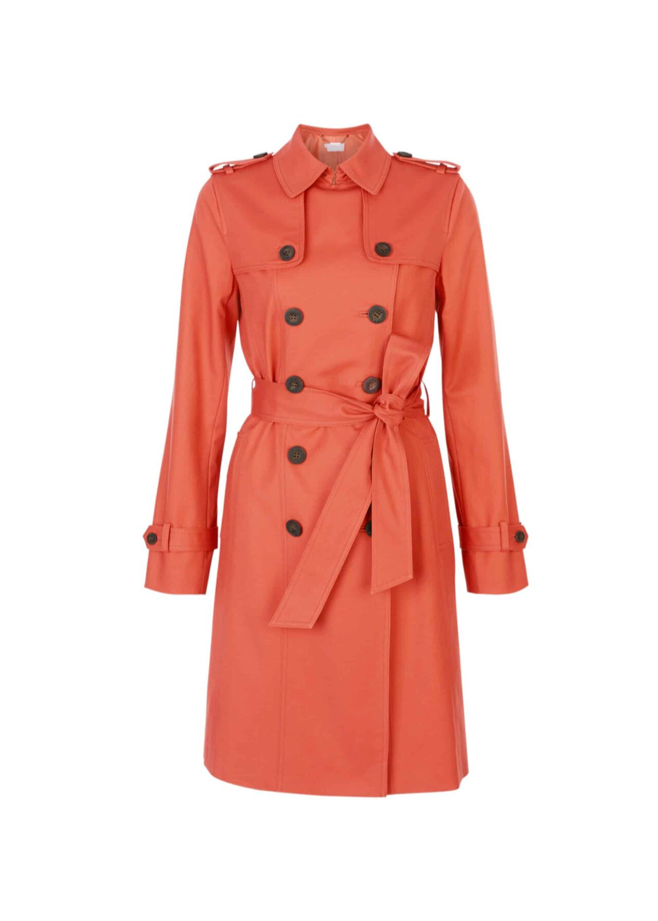 Saskia Water-Resistant Trench Coat Burnt Orange