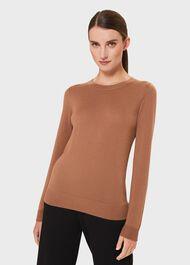 Penny Merino Wool Sweater, Vicuna, hi-res