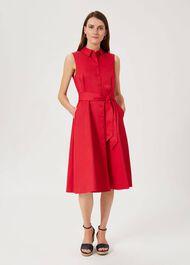 Sleeveless Tyra Dress, Raspberry, hi-res