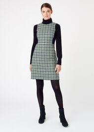 Rosella Wool Dress, Ivory Green, hi-res