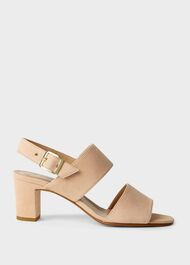 Katrina Suede Block Heel Sandals, Blush, hi-res