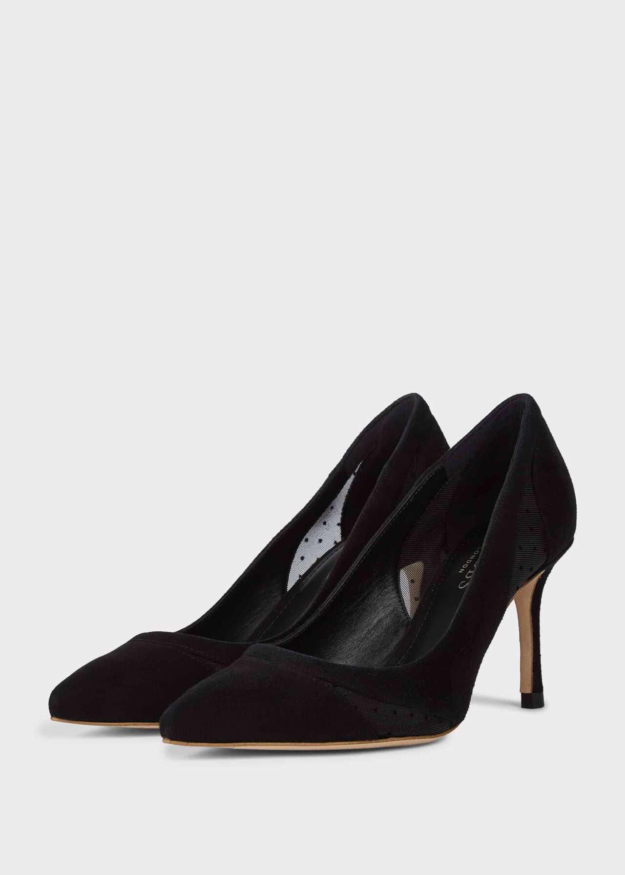 Layla Leather Court Shoes Black