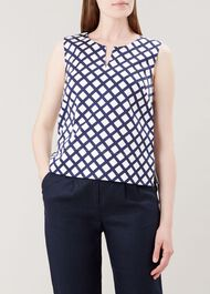 Bettie Top, Navy White, hi-res