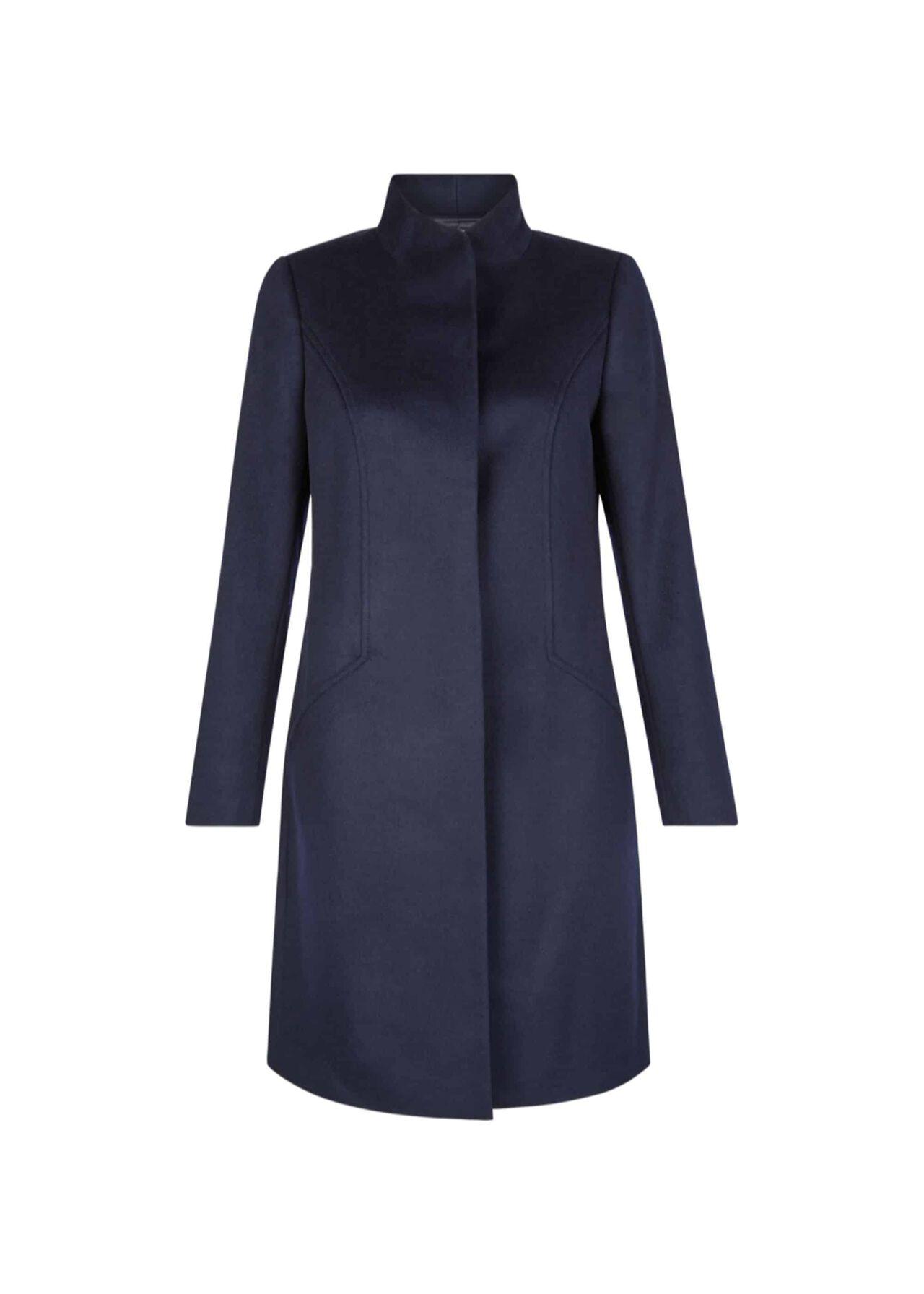 Mandy Wool Coat Navy