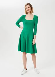 Cassie Knitted Dress, Apple Green, hi-res