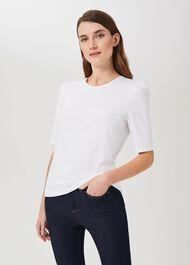 Eva Puff Sleeve T-Shirt, White, hi-res