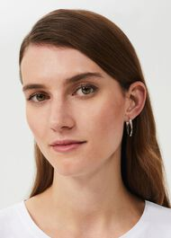Cesci Earring, Silver, hi-res