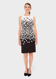 Moira Printed Dress, Black Ivory, hi-res