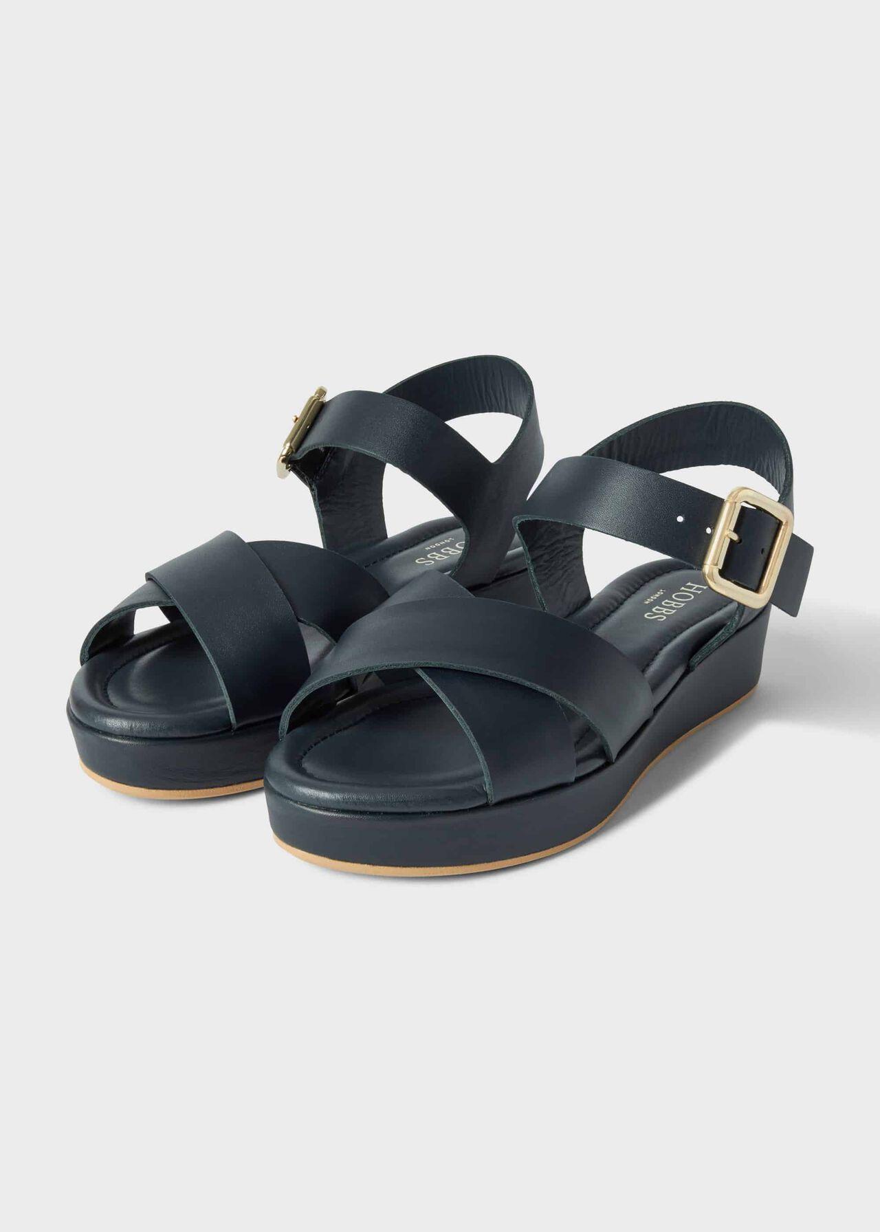 Hattie Sandal Navy