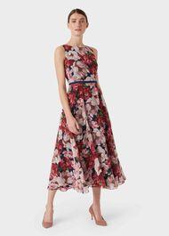 Carly Dress, Peony Pink, hi-res