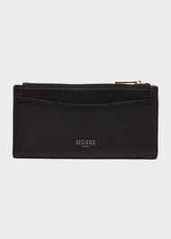 Shetland Leather Wallet, Black, hi-res