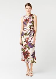 Thao Floral Dress, Blush Multi, hi-res