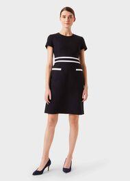 Primrose Dress, Navy White, hi-res
