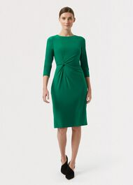 Cassia Dress, Dark Green, hi-res