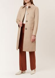 Edith Trench Coat, Clay, hi-res