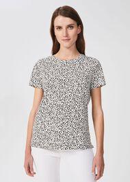 Jamie Printed T-Shirt, White Black, hi-res