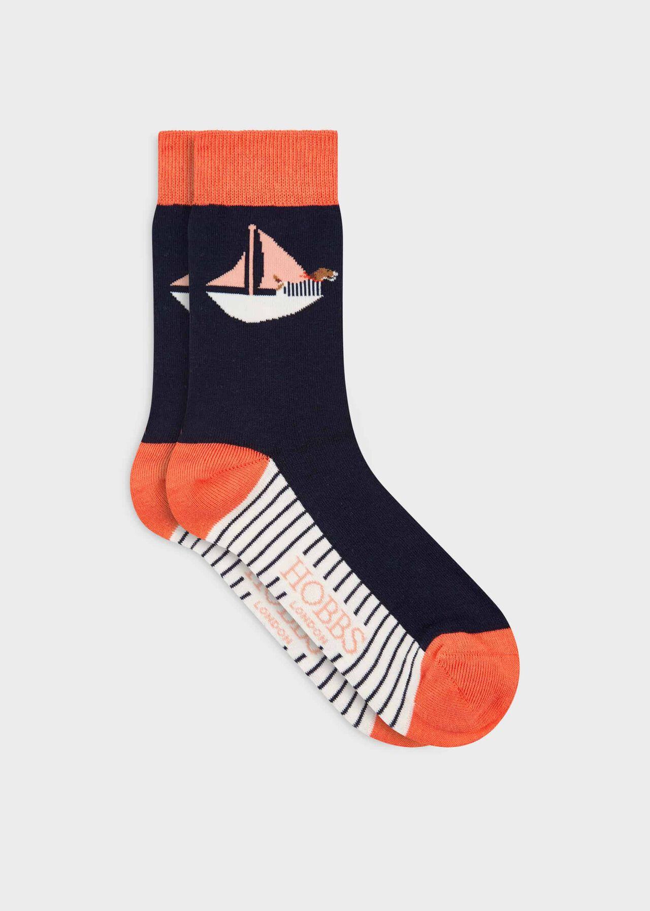 Boat Dog Single Sock, Salmon, hi-res