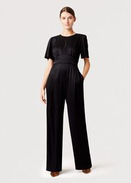 Jennifer Jaquard Animal Jumpsuit, Black, hi-res