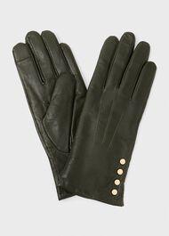 Sienna Leather Glove, Dark Olive, hi-res
