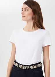 Eliza Leather Belt, Leopard, hi-res
