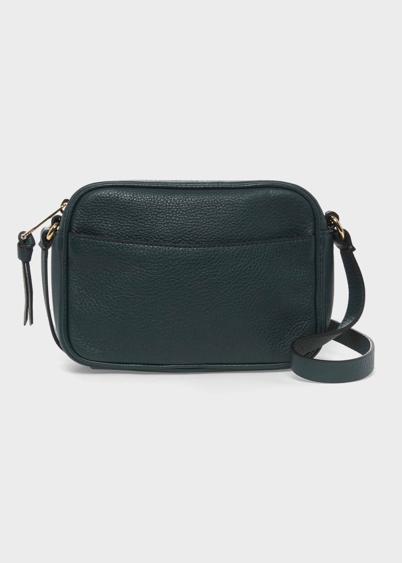 Pelham Leather Cross Body Bag, Bottle Green, hi-res
