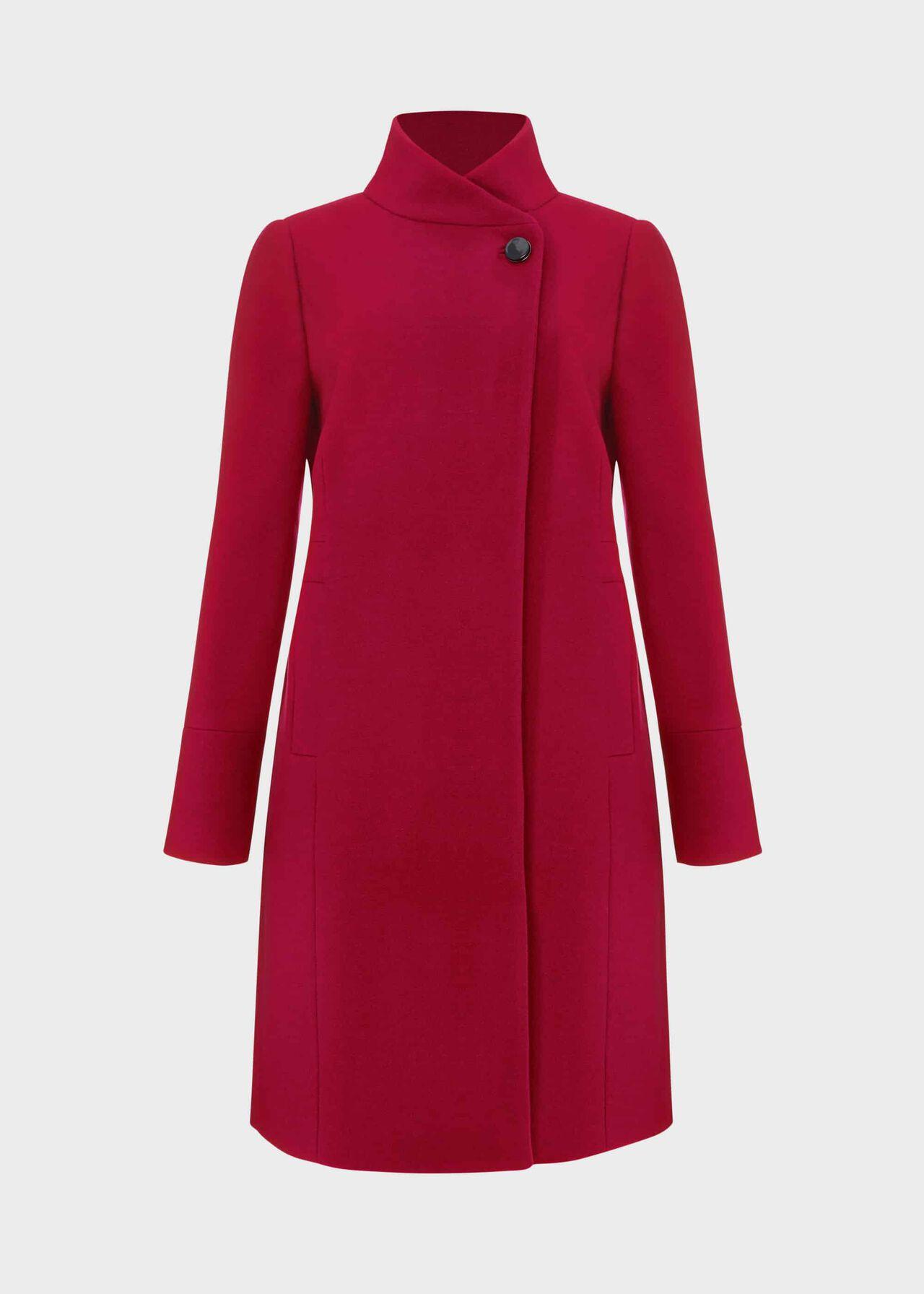 Maisie Wool Blend Coat Dark Raspberry