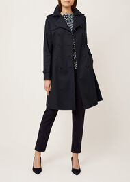 Saskia Trench Coat, Navy, hi-res