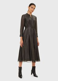Wren Shirt Dress, Black Gold, hi-res