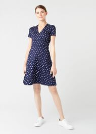 Darcie Dress, Navy Ivory, hi-res