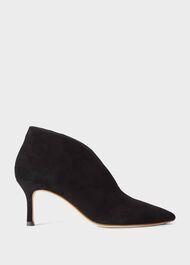 Sienna Suede Stiletto Ankle Boots, Black, hi-res