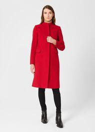 Rhiannon Wool Blend Coat, Red, hi-res