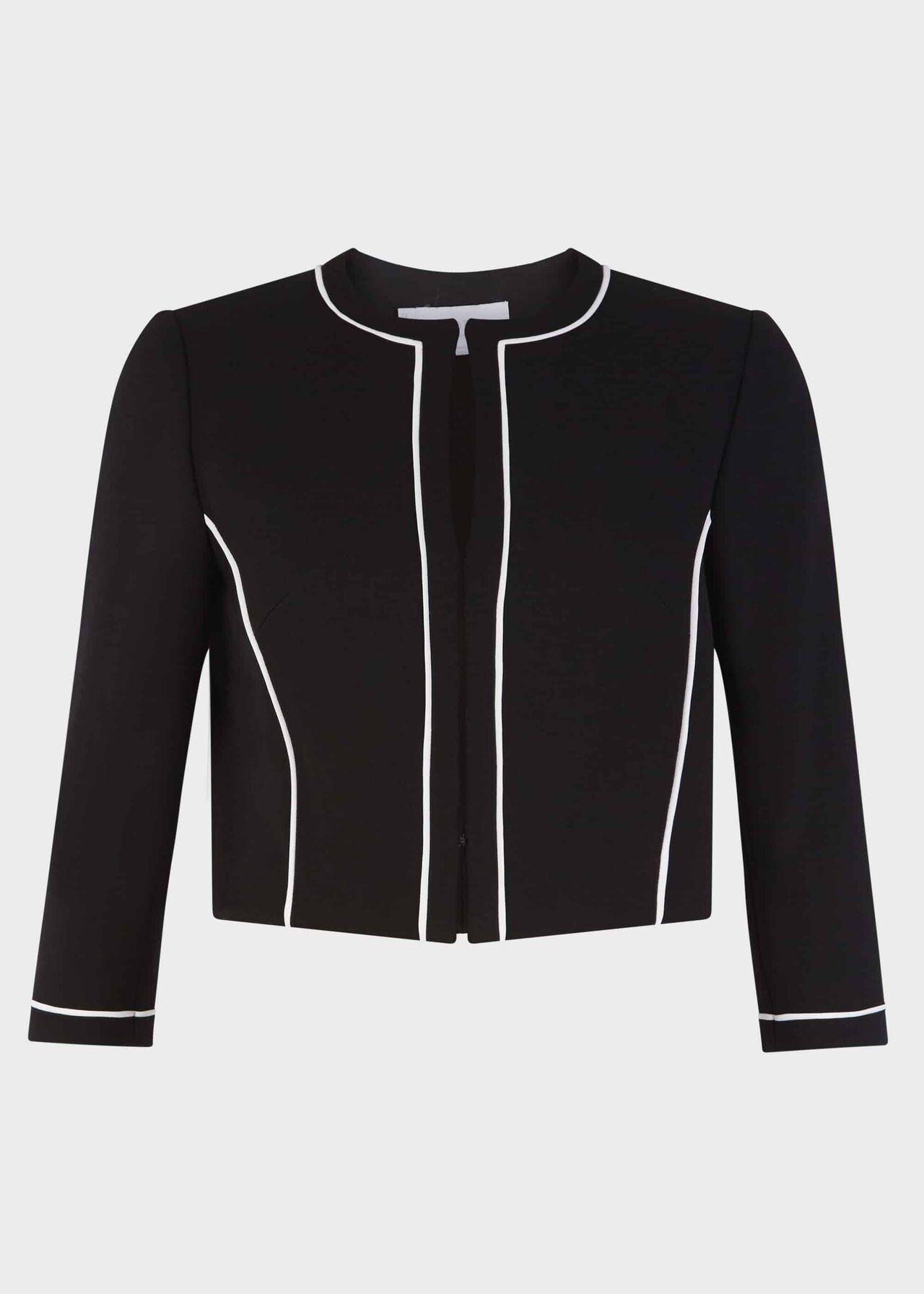 Petite Cordelia Jacket Black Ivory