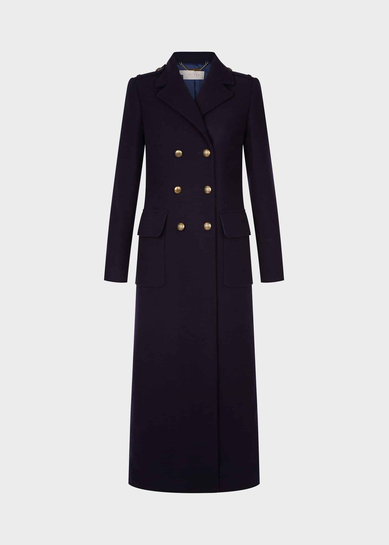 Bianca Maxi Coat Navy