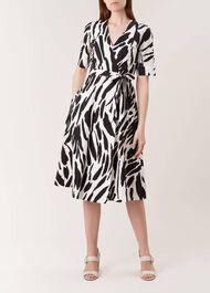 Amara Dress, Black Ivory, hi-res