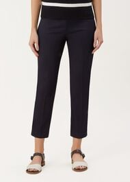 Mallory Capri With Stretch, Navy, hi-res