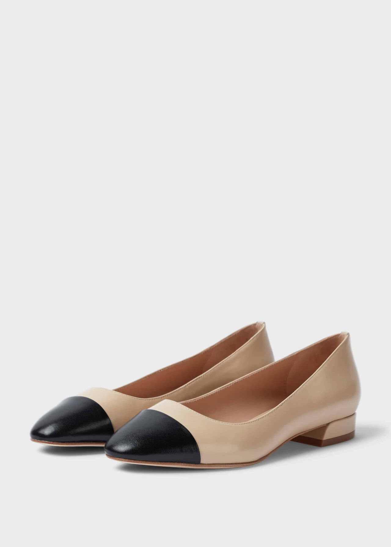 Amelia Leather Ballerinas Birch