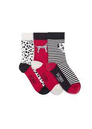 Dalmatian Sock Set, Red Multi, hi-res