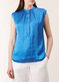 Lillie Blouse, Sapphire Blue, hi-res