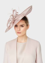 Charlotte Fascinator, Blush, hi-res