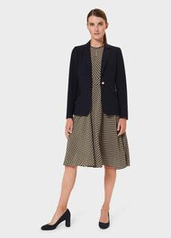 Laurel Wool Blend Blazer, Navy, hi-res